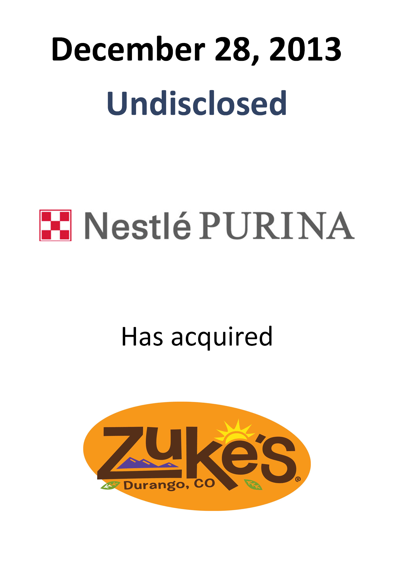 Mergers Amp Acquisitions Nestle Purina Acquires Zuke S